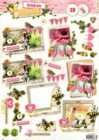 Celebrate Spring Die Cut 3d Decoupage Sheet From Studio Light